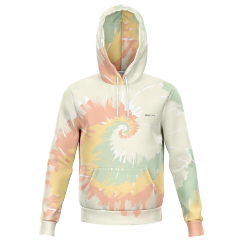 Pastel Tie Dye Hoodie, Colorful Long Sleeve Hooded Sweatshirt Fleece Sweater with Hood Women Men Top Shirt Plus Size - Starcove Design
