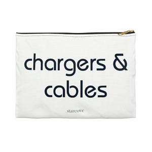 Chargers and cables bag, packing Travel bag Storage pouch, Traveling Accessory Flat Zipper Pouch Gift - Starcove Design