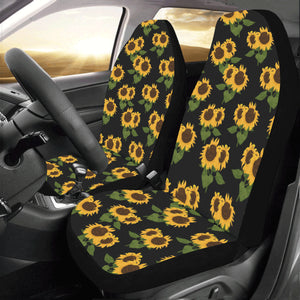 Fantastic Sunflower Car Seat Covers 2 Pc Black Yellow Front Seat Covers Floral Car Seat Protector Accessory Lamtechconsult Wood Chair Design Ideas Lamtechconsultcom