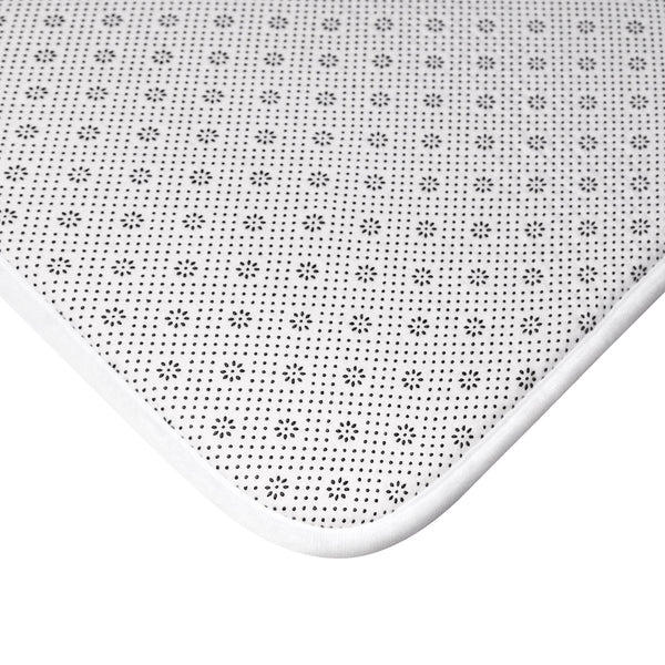 Black and White Bath Mat, You Look Great non Slip Memory Foam Mat Small Large Microfiber Dorm Room Bathroom Shower Modern Rug - Starcove Design