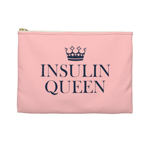 Insulin Pump Bag Case, Insulin Queen Diabetes Supply Travel Pouch Diabetic T1D Accessory Canvas Pouch Type 1 Gift for Her Wife Friend - Starcove Design