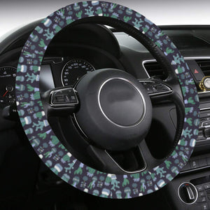 Cactus Steering Wheel Cover with Anti-Slip Insert, Green Succulent Plant Car Auto Wrap Protector Accessories