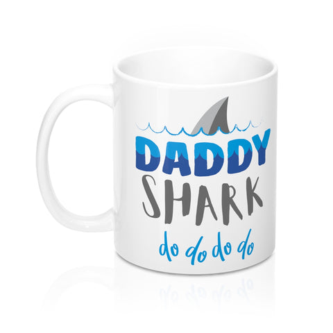 Daddy Shark Mug, Funny Gift For Dad Coffee Mug Cup Tea Lover Unique Novelty Cool New Gift Ceramic 11oz Baby Shark - Starcove Design