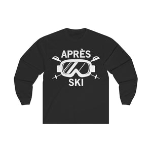 Apres Ski Shirt, Skiing Snow Mountain Ski Snowboard Wear Mask Party, Gifts Long Sleeve Tshirt Tee