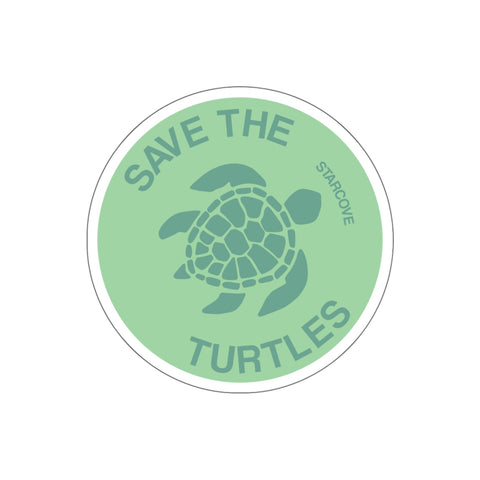Save the Turtles Sticker, Vsco Sea Turtle Stickers Green Laptop Vinyl Cute Waterproof Tumbler Car Bumper Waterbottle Flask Label Wall Decal - Starcove Design