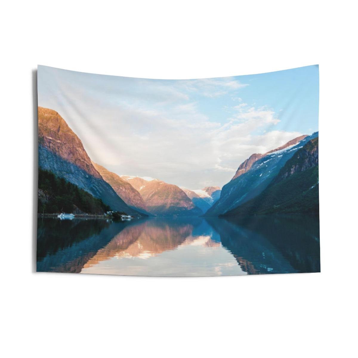 Lake Mountain Tapestry, Indoor Wall Scenic Rocky Mountains Landscape Nature Dorm Hanging Decor - Starcove Design