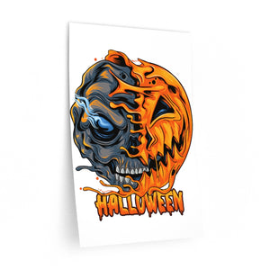 Halloween Window Decal, Skull Pumpkin Office Large Removable Vinyl Sticker Cute Nursery Die Cut Peel and Stick Mural Décor decoration