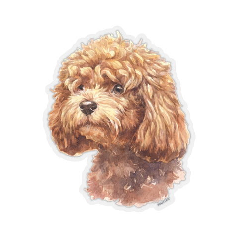 Poodle Dog Sticker, Laptop Decal Vinyl Cute Waterbottle Tumbler Car Waterproof Bumper Aesthetic Die Cut Wall Mural