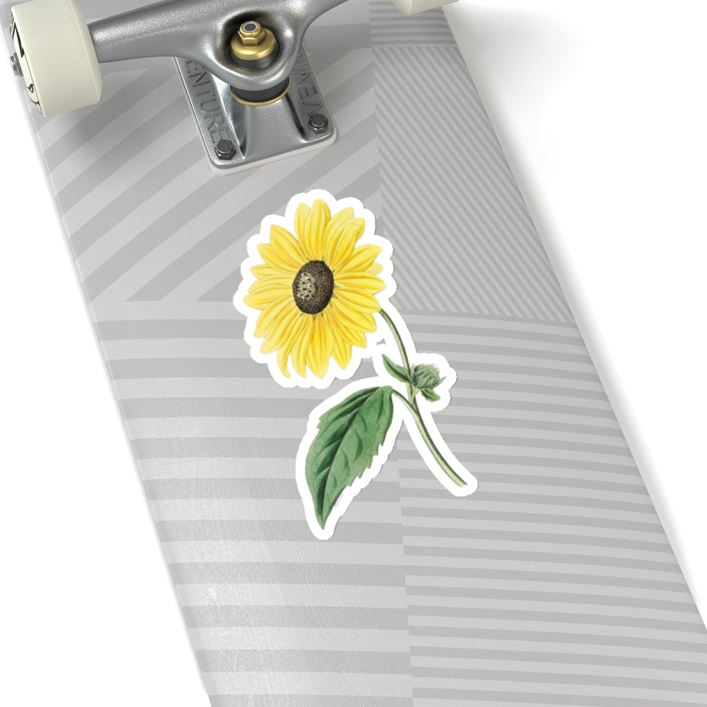 California Sunflower Decal Nature Bloom Stem Floral Yellow Laptop Dec Starcove Fashion