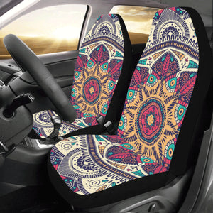 Mandala Car Seat Covers 2 pc, Pattern Bohemian Boho Art Front Seat Covers, Car SUV Seat Protector Accessory Decor - Starcove Design