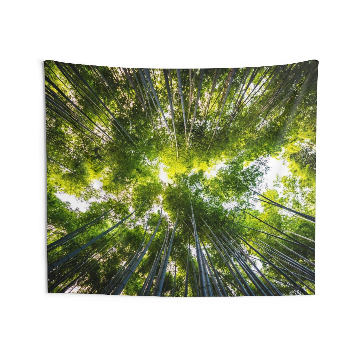 Bamboo Forest Trees Tapestry, Green Nature Japan Zen Landscape Indoor Wall Art Hanging Tapestries Decor - Starcove Design