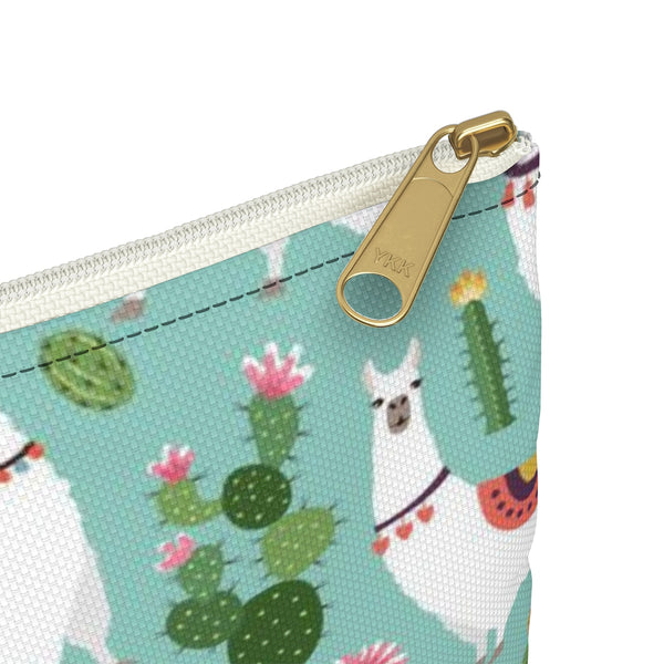 Llama Cactus pouch, Makeup Bags Cute Gifts for Women Small Cosmetic Zipper Large Green Purse Animal Accessory Zippered Coin Wallet - Starcove Design