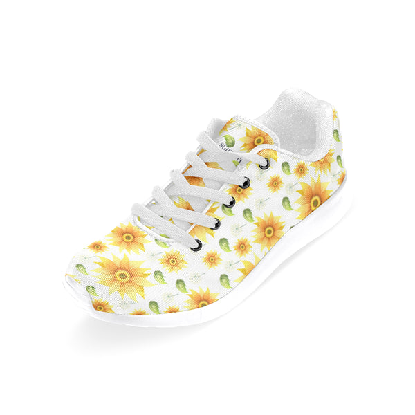 Sunflower Shoes, Cute Yellow Flowers Floral Women sneakers, Dandelion Casual Vegan Shoes, Sports Running Shoes - Starcove Design