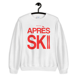 Apres Ski Sweatshirt Sweater, Vintage Winter Red Party Skiing Chalet Mountain Men Women's Crewneck Long Sleeve Top Clothes Gift - Starcove Design