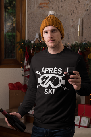 Apres Ski Shirt, Skiing Snow Mountain Ski Snowboard Wear Mask Party, Gifts Long Sleeve Tshirt Tee - Starcove Design