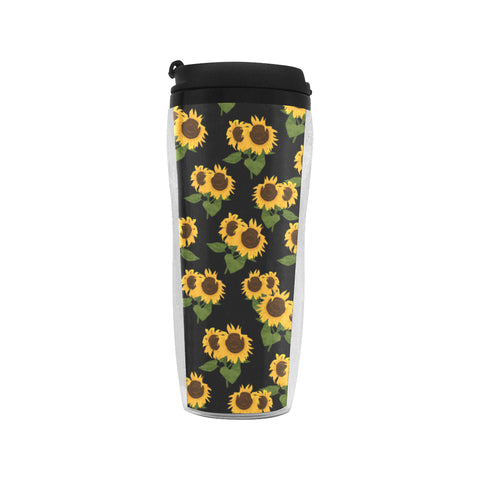 Sunflower Insulated Tumbler, Flower Floral Coffee Mug Reusable Coffee Cup (11 OZ) Travel with Wrap & Lid Gift - Starcove Design