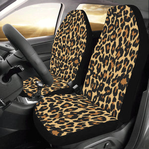 Leopard Car Seat Covers 2 pc, Animal Print Cheetah Pattern Front Seat Covers, Car SUV Seat Protector Accessory Decoration - Starcove Design