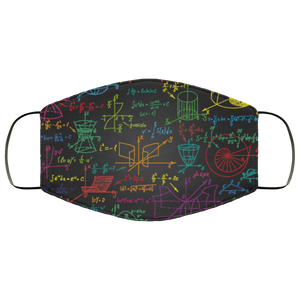 Math Face Mask With Multi Layers, Made In USA Science Lover Adult Men Women Fashion Reuseable Washable Fabric Cloth Mask - Starcove Design