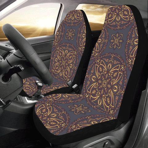 Mandala Boho Car Seat Covers 2 pc, Tribal Indian Pattern Bohemian Oriental Art Front Seat Covers, Car SUV Seat Protector Accessory Decor - Starcove Design