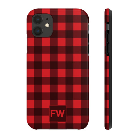 Custom Monogram Buffalo Plaid iPhone Case Mate Tough Phone, iPhone 11 pro max, Cute Gift, iphone XS Max, XR, X, 7 Plus, 8 8F,  6s 6 Plus - Starcove Design