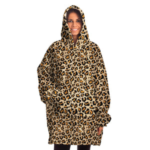 Blanket Hoodie, Snug Wearable Hooded Blanket Leopard Animal Cheetah Print Warm Winter Fleece Adult Men Women Large Throw - Starcove Design