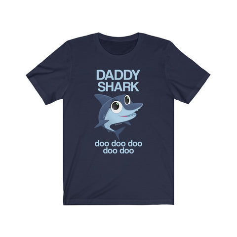 Daddy Shark Doo Doo Adult T-shirt Funny Gifts, Baby Shark Family Birthday Mama Daddy Men Women