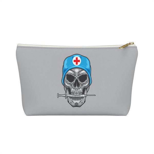 Skull Medical Bag, Medicinal Hospital Sick Men Gift Supply Case Accessory Travel Zipper Canvas Pouch w T-bottom - Starcove Design