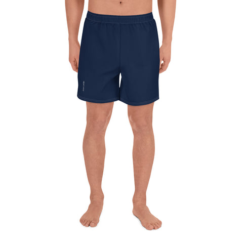 "Navy Men's Athletic Long Shorts, Long All Round Sports Gym Track Swimming 6.5"" Shorts with Pockets"