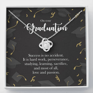 College School Graduation Necklace Gift Her, 14k White Gold University Doctorate Masters Degree MBA High School Phd Best Friend Daughter