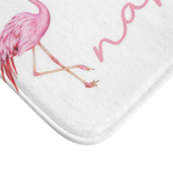 Get Naked Bath Mat, Pink Flamingo Quote White memory foam mat, Funny Microfiber Bathroom Shower Mat Rug - Starcove Fashion