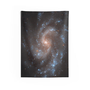 Night Sky Vertical Tapestry, Spiral Galaxy Universe Indoor Wall Outer Space Constellation Stars Decor - Starcove Design