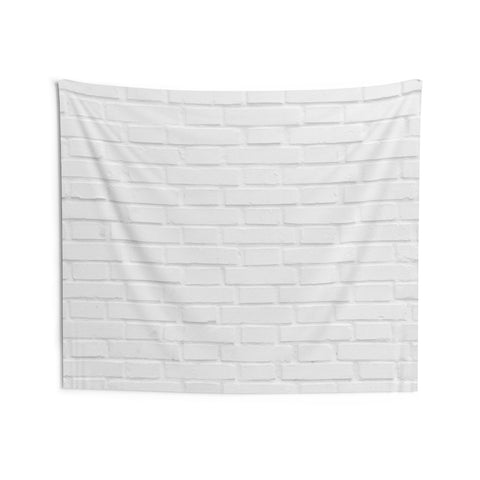 White Brick Wall Tapestry, Indoor Wall Tapestries Photo Backdrops Landscape Indoor Wall Art Hanging Tapestries Décor Home Dorm Room Gift - Starcove Design