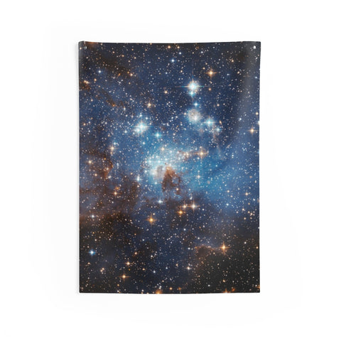 Space Tapestry, Galaxy Universe Outer Space View, Galactic Indoor Room Art, Celestial Stars Night Sky Wall Tapestry - Starcove Design