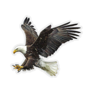 Bald Eagle Sticker, Claw flying American Bird Raptor Laptop Decal Vinyl Waterbottle Tumbler Car Bumper Aesthetic Die Cut Wall - Starcove Design