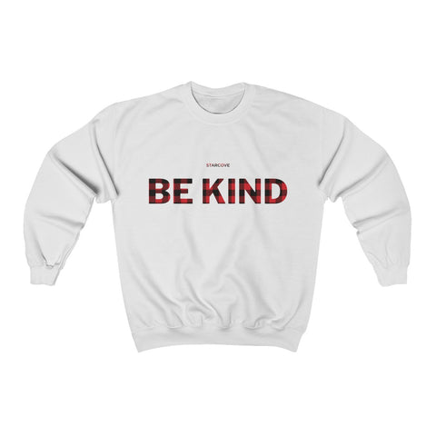Be Kind Sweater, Buffalo Plaid Kindness Inspirational Teacher Fall Choose Kind School Kindness Crewneck Sweatshirt Gift - Starcove Design