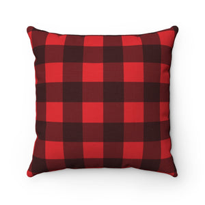 Buffalo Plaid Pillow Case, Square Red and Black Check Throw Decorative Cover