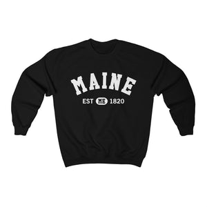 Maine ME State Sweatshirt, I Love Maine Retro Vintage Home Pride Souvenir USA Gifts Hiking Pullover Men Women Crewneck Sweatshirt - Starcove Design
