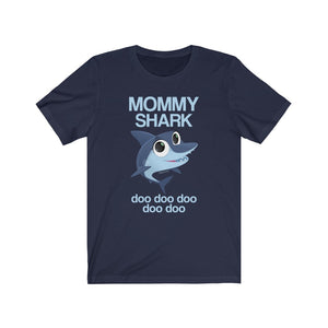Mommy Shark Doo Doo Adult T-shirt Funny Gifts, Baby Shark Family Birthday Mama Daddy Men Women