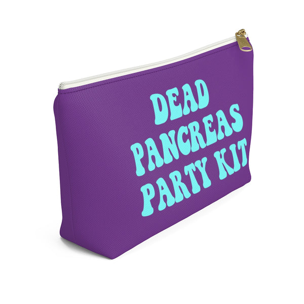 Dead Pancreas Party Kit Bag, Diabetes Supply Bag, Fun Diabetic Supply Case, Cute Carrying Bag Gift, Type 1 Diabetes Accessory Zipper Pouch w T-bottom - Starcove Design