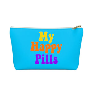 My Happy Pills Pouch, Funny Medical Bag Travel Drugs Medication Medicine Festival Emergency Accessory Pouch w T-bottom - Starcove Design
