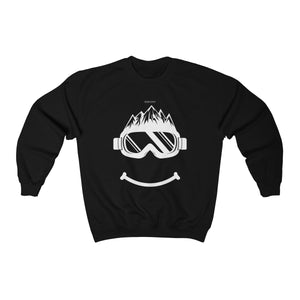 Funny Ski Face Sweatshirt Fun Smiling Goggles Mountain Skiing Snowboard Apres Party Gift Skier Men Women 80s 90s Winter Sports Sweater - Starcove Design