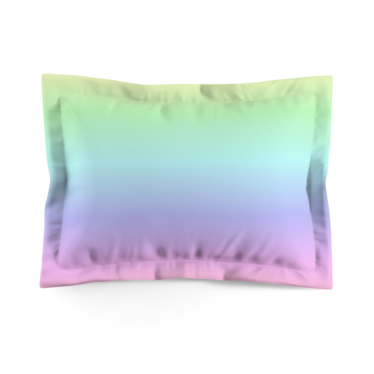 Pastel Rainbow Microfiber Pillow Sham Cover, King Queen Matching with Duvet Cover Throw Bed Pillow Case - Starcove Design
