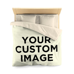 Custom Photo Duvet Cover, Personalized Bed Image Photograph Bedding, Full Twin Queen Full Color Printed in USA Microfiber Set - Starcove Design