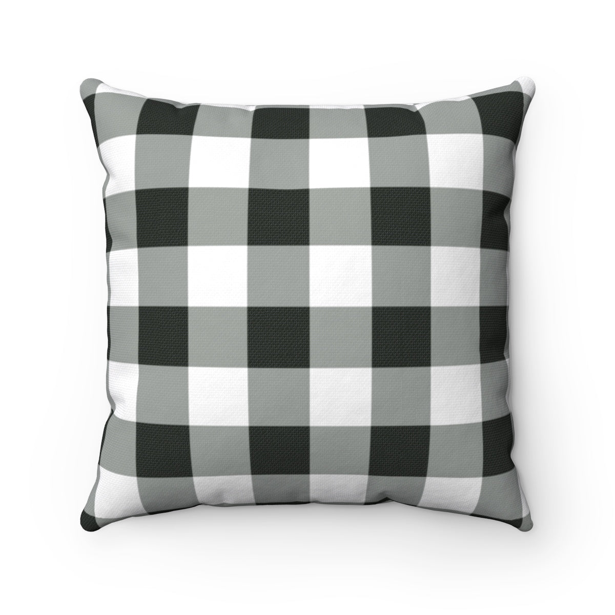 Buffalo Plaid Pillow Case, Square Black and White Throw Check Decorative Cover - Starcove Design