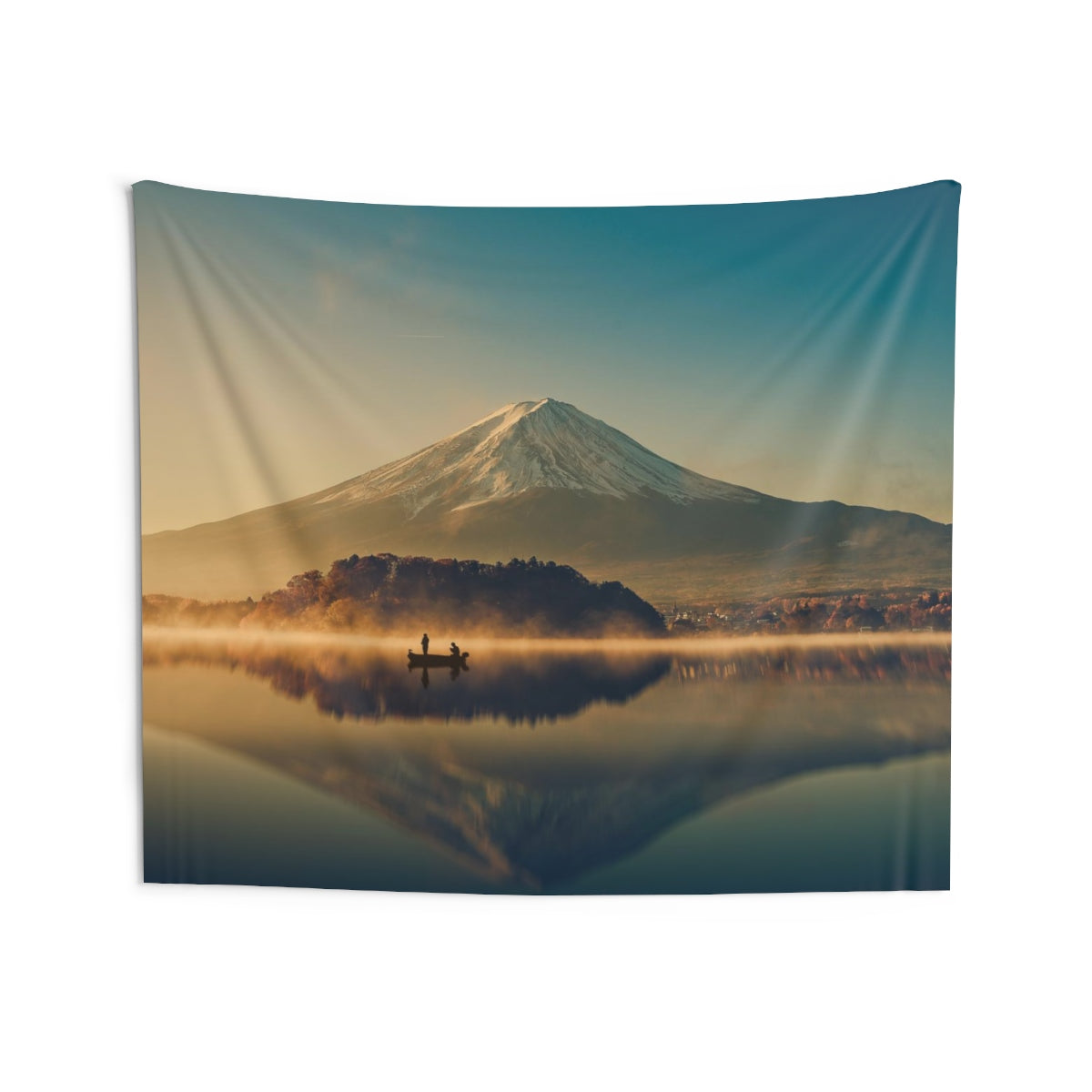 Mount Fuji Tapestry, Lake Kawaguchiko Mountain Snow Indoor Wall Art Hanging Tapestries Large Small Decor Home Dorm Room Gift - Starcove Design