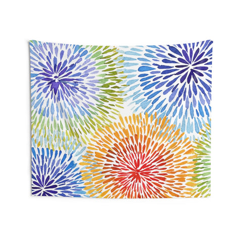 Rainbow Tie Dye Tapestry, Watercolor Abstract Landscape Indoor Wall Art Hanging Tapestries Large Small Decor Home Dorm Room Gift