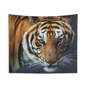 Tiger Tapestry, Nature Indoor Animal Wall Art Hanging Print Tapestries, Big Cat Tiger Dorm Decor Gift - Starcove Design