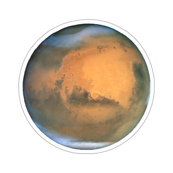 Mars Decal, Planet Stickers Laptop Vinyl Cute Waterbottle Tumbler Car Bumper Aesthetic Label Wall Mural Decal Die Cut - Starcove Design