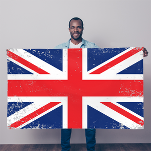 UK Union Jack Distressed Flag Sublimation Flag - Starcove Design