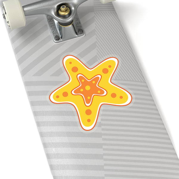 Starfish Stickers, Ocean Beach Yellow Laptop Vinyl Cute Waterproof Tumblr Car Bumper Tumbler Waterbottle Aesthetic Label Wall Decal Stickers - Starcove Design
